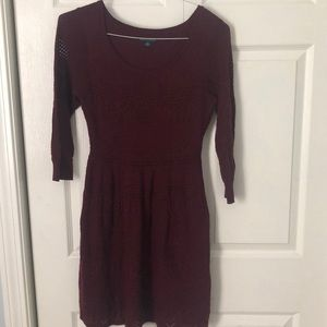 American Eagle maroon sweater dress